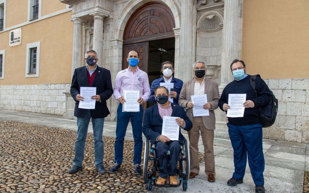 Los clubes de elite registran la propuesta de patrocinio para la Junta de Castilla y León y se reúnen con los grupos parlamentarios